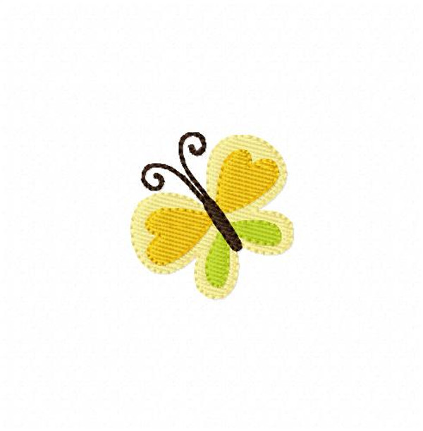 Small Butterfly Machine Embroidery Spring Design