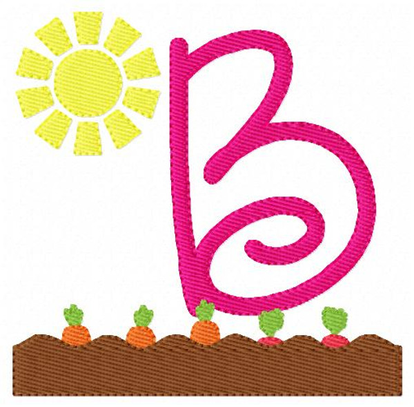 Bunny's Garden Monogram Embroidery Design Set