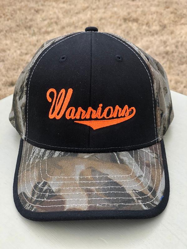 Warriors Cap Black with Realtree Hardwood - Camo