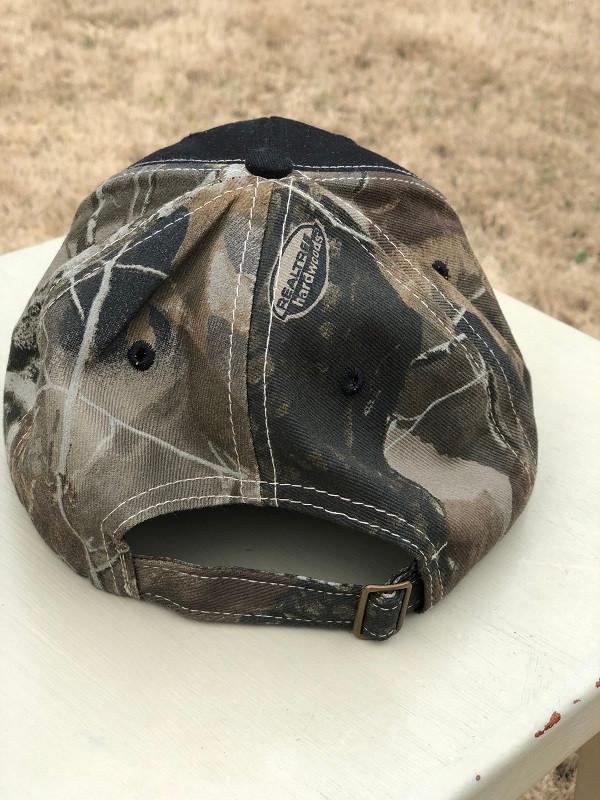 Vols Cap Black with Realtree Hardwood - Camo