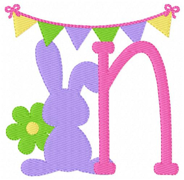 Bunny Day Easter Machine Embroidery Font Design Set