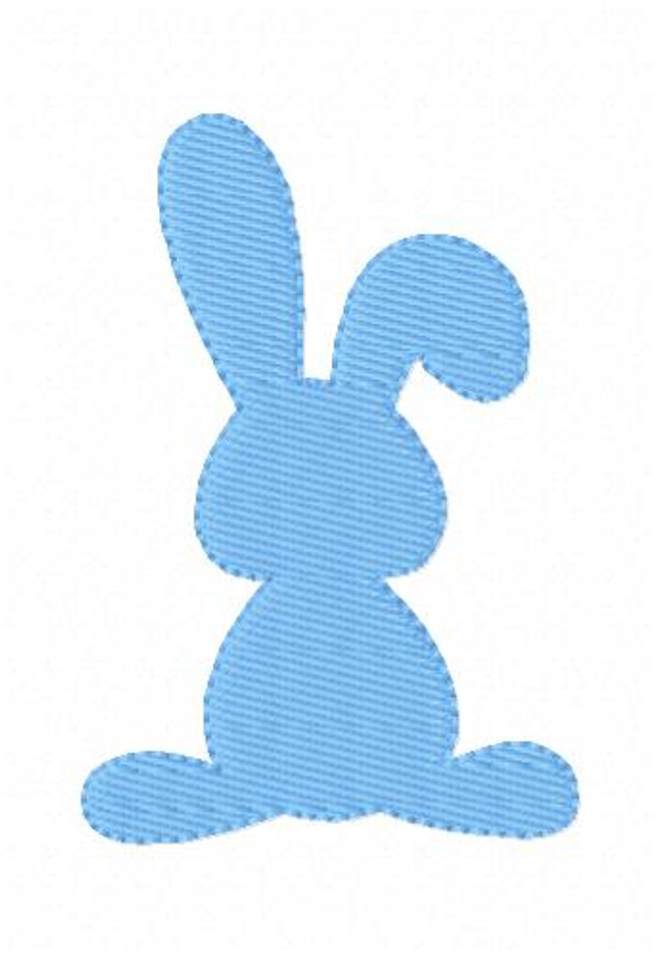 Easter Bunny Single Embroidery Design - 2 Sizes Included