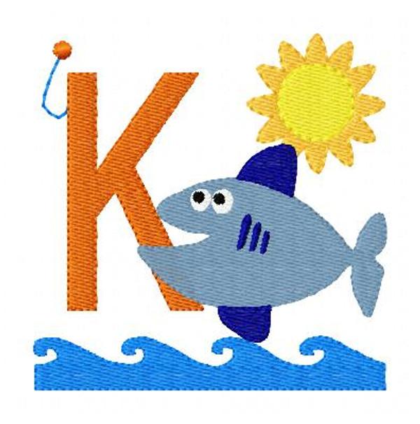 Fishing Monogram Embroidery Design Font Set