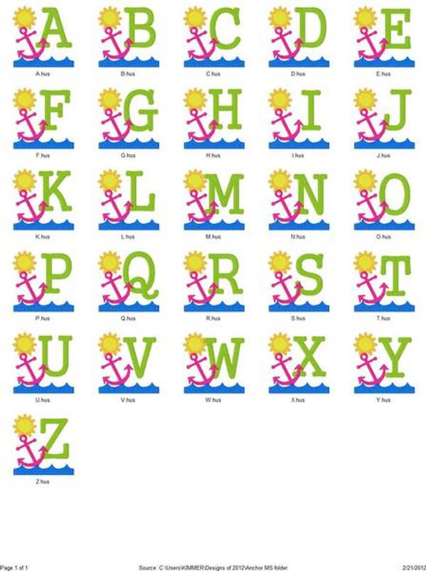 Anchor Summer Monogram Set