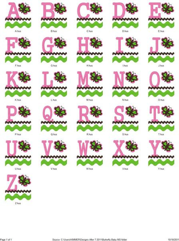 Butterfly Baby Monogram Set