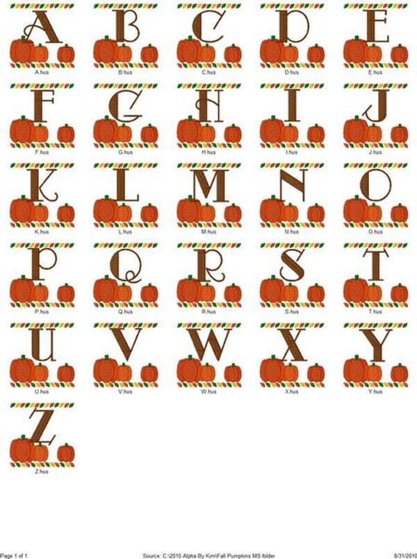 Fall Pumpkins Monogram Set