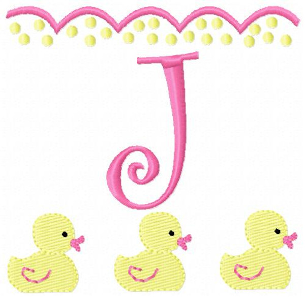 Baby Ducks Monogram Set
