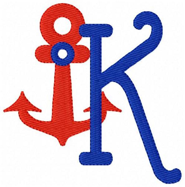 Anchors Away Monogram Set