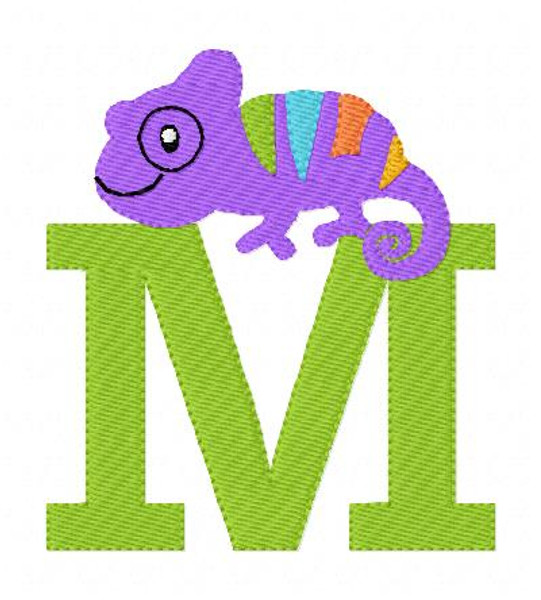 Chameleon Lizard Monogram Set