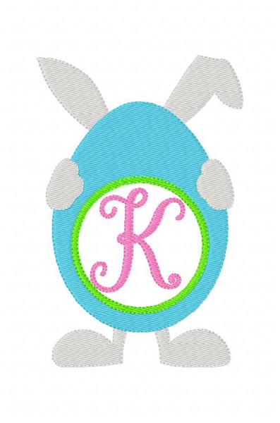 Bunny Easter Egg 5x7 Monogram Font Design Set Spring