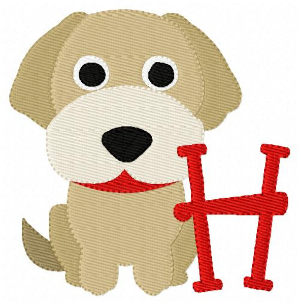 Golden Retriever Puppy Dog Monogram Set