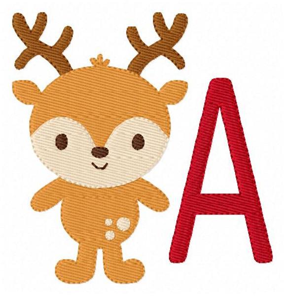 Deer Wilderness Hunting Christmas Monogram Set