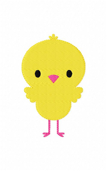 Spring Baby Chick Easter Embroidery