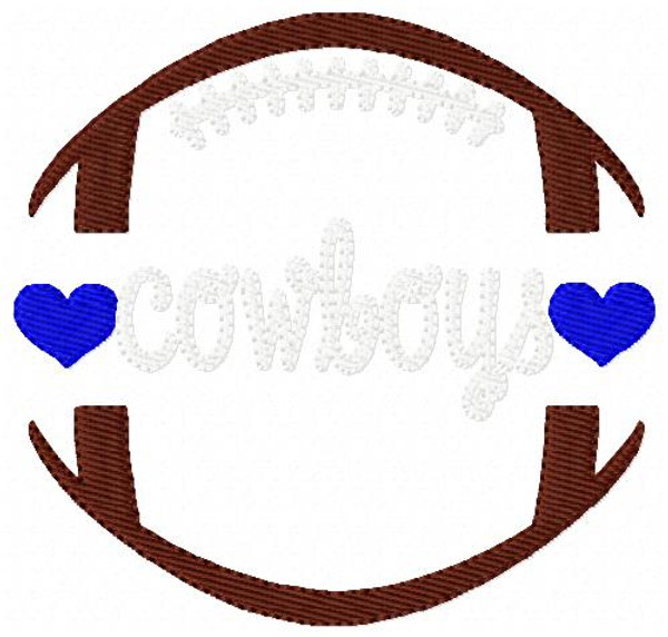 Cowboys Football Sports Machine Embroidery Design