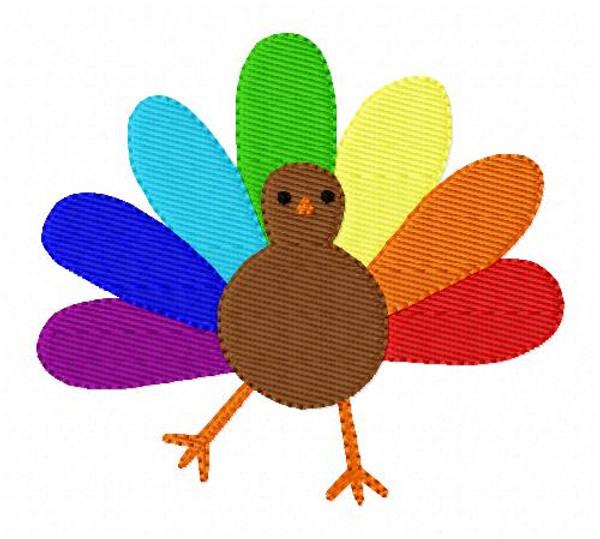 Turkey Thanksgiving Embroidery Design