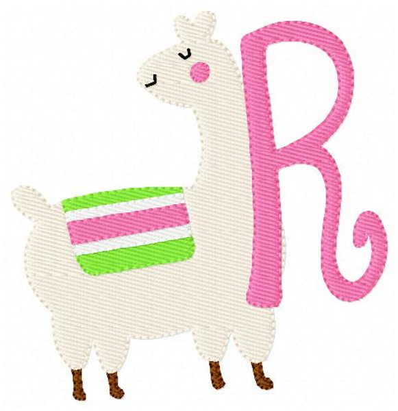 Sassy Llama Machine Embroidery Monogram Font Set