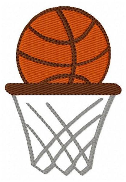 Basketball Goal Machine Embroidery Design