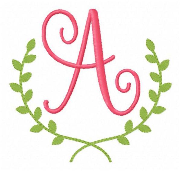 Ivy Machine Embroidery Monogram Font Design Set