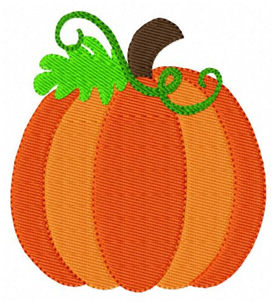 Pumpkin Embroidery Design with 3 Three Sizes Included