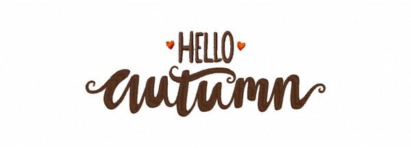 Hello Autumn Machine Embroidery Design