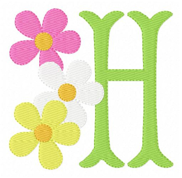 Dreaming of Daisies Monogram Embroidery Design Set