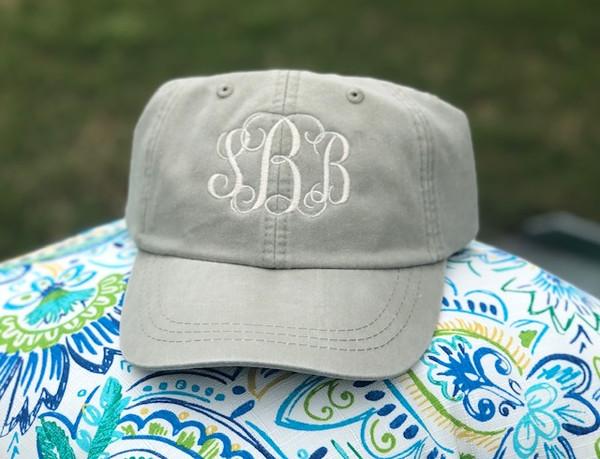Monogrammed Baseball Hat