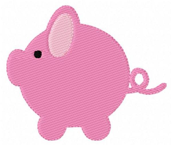 Piggie Bank Embroidery Design
