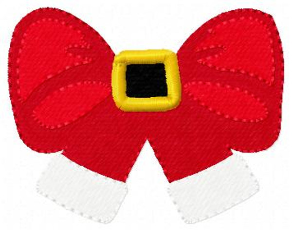 Santa Bow Christmas Embroidery Design