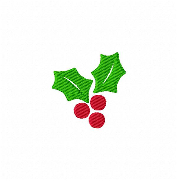 Holly Berries Machine Embroidery Design