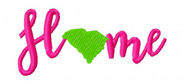 Home South Carolina Machine Embroidery Design - 4 Sizes Included