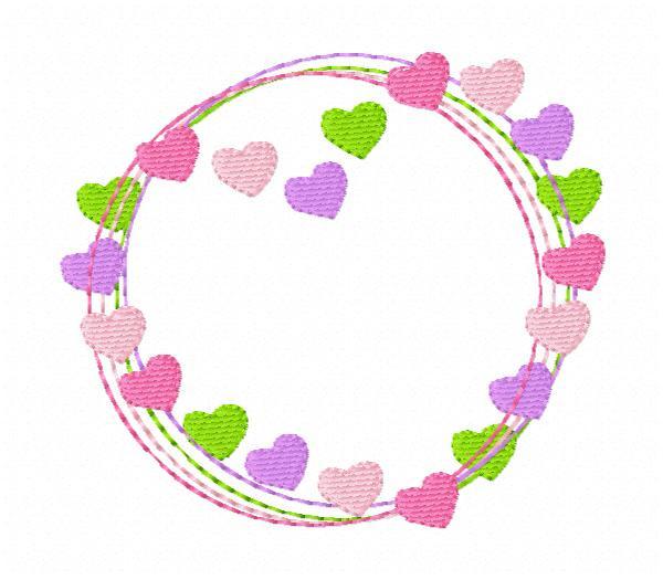Hearts & Twine Frame Machine Embroidery Design Frame