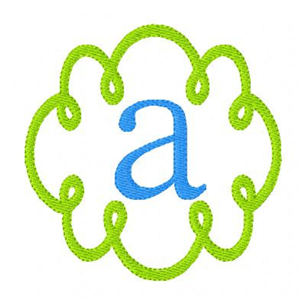 Swirly Doodle Monogram Embroidery Font Design Set