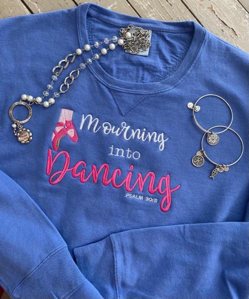 Mourning Into Dancing Comfort Wash Indigo Sweatshirt