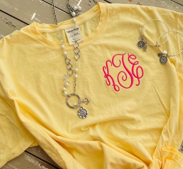 Spring Sunshine Yellow Monogram Super Soft T-Shirt