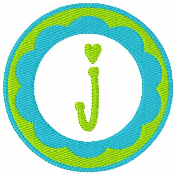Scallop Cutie Circle Monogram Set