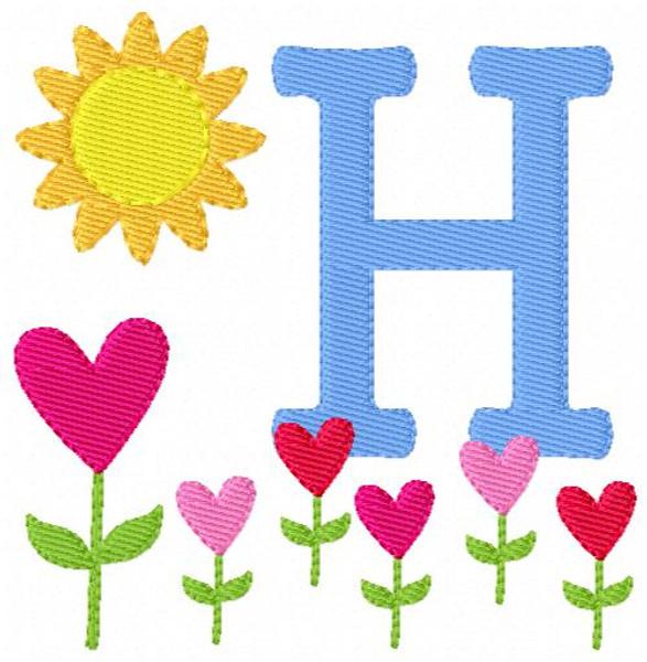 Garden of Hearts Monogram Set