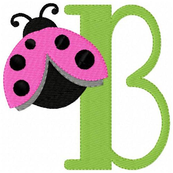 Little Ladybug Monogram Set