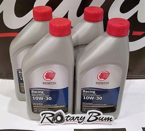 Idemitsu 10W-30 Full Synthetic Rotary Engine Oil - 4 qt. pack