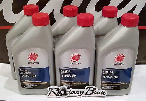 Idemitsu 10W-30 Full Synthetic Rotary Engine Oil - 6 qt. pack