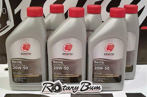 Idemitsu 20W-50 Full Synthetic Rotary Engine Oil - 6 qt. pack