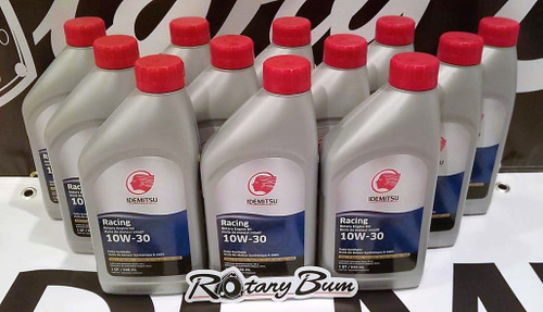 Idemitsu 10W-30 Full Synthetic Rotary Engine Oil - 12 qt. Case