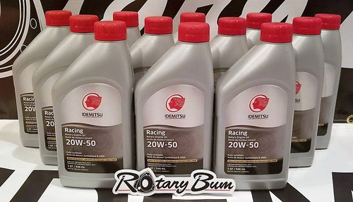 Idemitsu 20W-50 Full Synthetic Rotary Engin Oil - 12 qt. Case