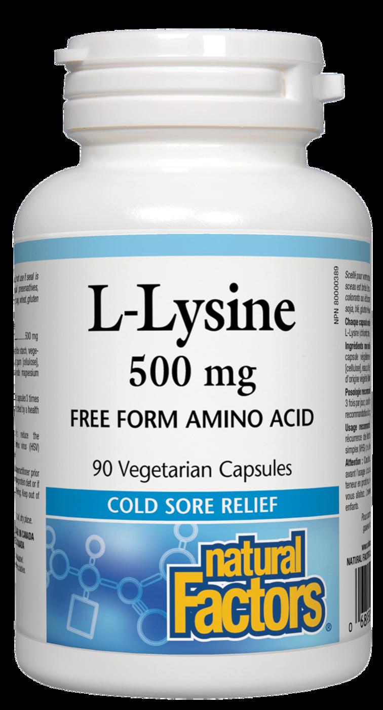 Natural Factors L-Lysine 500 mg (90 veg caps)