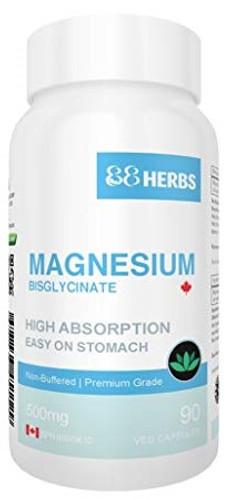 88 Herbs Magnesium Bisglycinate 500 mg (90 vcap)