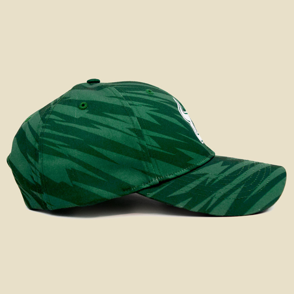 USF Logo Two-Tone Green Hat Side