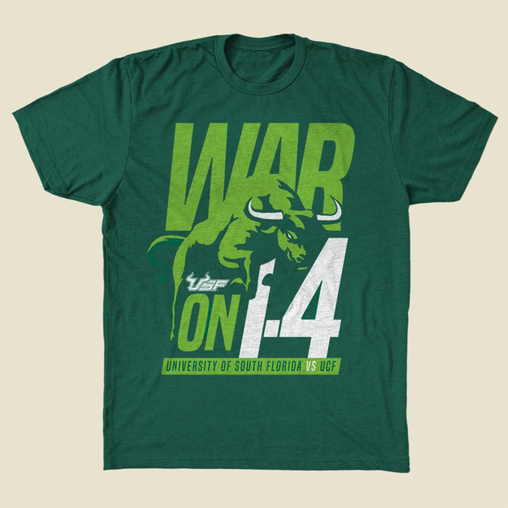 USF War on I4 Green Shirt