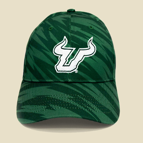 USF Logo Two-Tone Green Hat Front