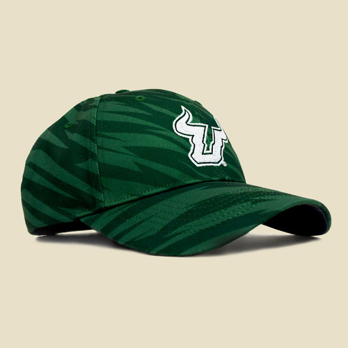 USF Logo Two-Tone Green Hat Angle