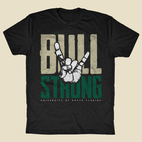 USF Bull Strong Black Shirt