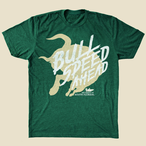 USF Bull Speed Ahead Green Shirt